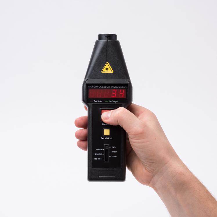 CT6/LSR/M/K Optical-Contact Laser Tachometer (Metric) & VLS5/J/LSR Remote Sensor